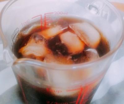 「かろやかアイスブレンド」を使って作ったアイスコーヒー