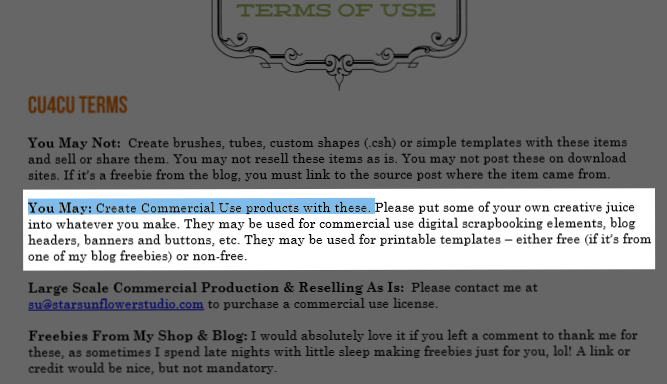 You May: Create Commercial Use products with these.
