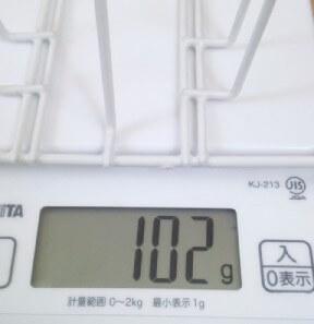 ダイソー コップスタンド(6個用)の重さ 102g