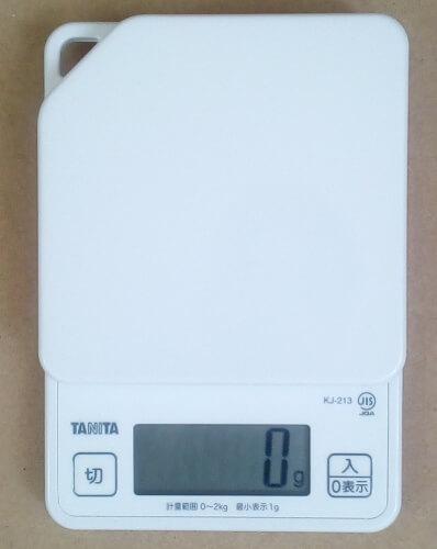 タニタ デジタルクッキングスケール KJ-213