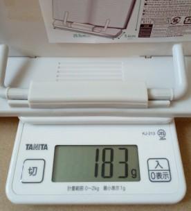 ダイソー 読書台の重さ183g
