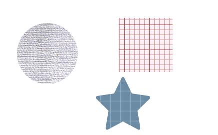 図形をパターンで塗りつぶした例