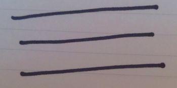 ノートで試し書き