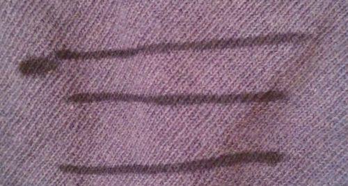 綿の布で試し書き
