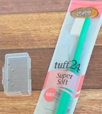 ダイソーの歯ブラシカバーとタフト24